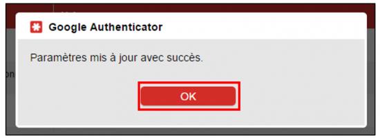 Notification de la liaison Google Authenticator et LastPass