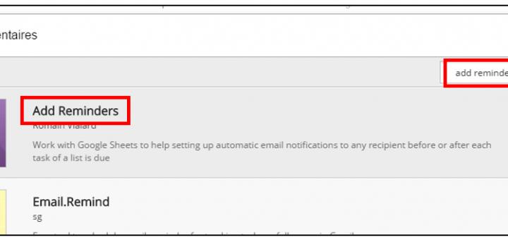 Installer le module add reminders