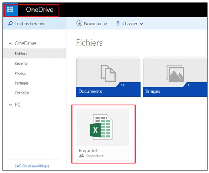 Ouvrir l'enquête depuis OneDrive