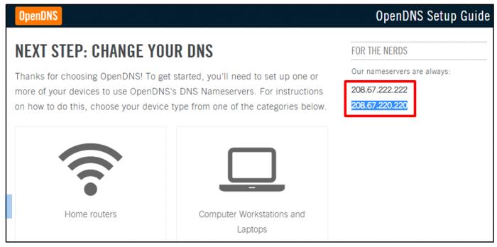 Adresses DNS