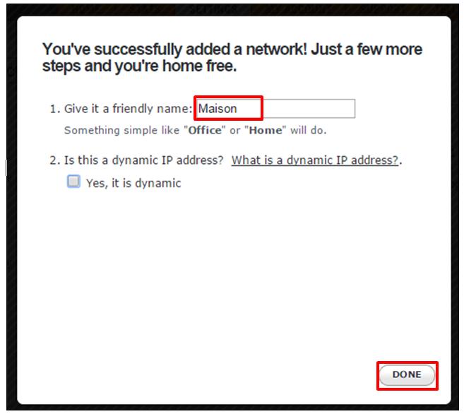 Nommer le nouveau réseau
