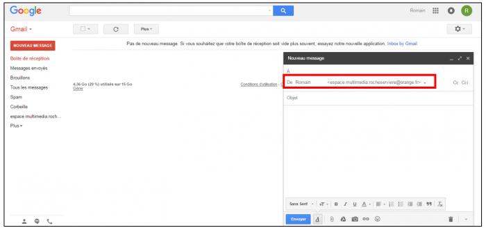 Utilisation de Gmail avec une messagerie Orange