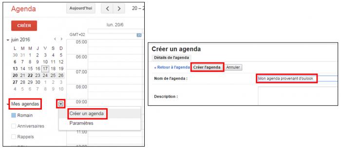 Créer un agenda secondaire sur Gmail