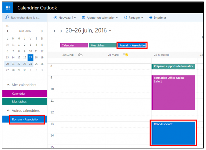 Consulter l'agenda Gmail dans Outlook