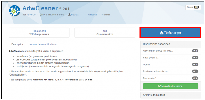 Télécharger AdwCleaner