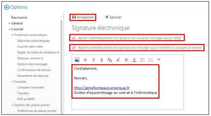 Créer une signature électronique