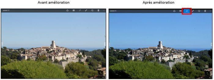 Amélioration automatique d'une image