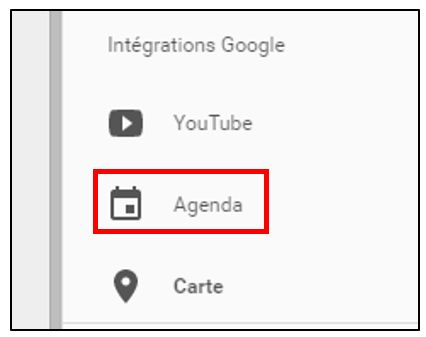 Insérer un agenda Google
