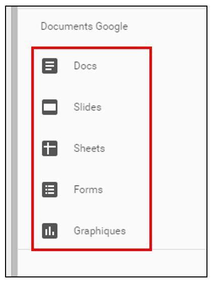 Insérer des éléments Google Drive