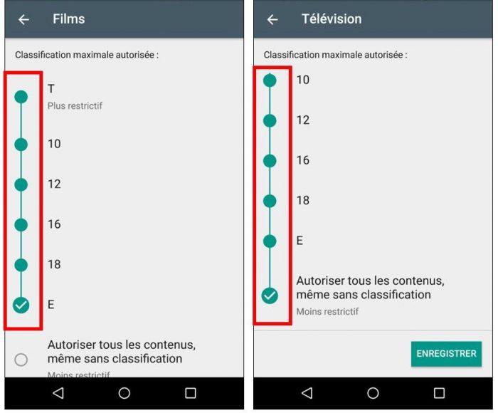 Restrictions sur les films et émissions télévisées