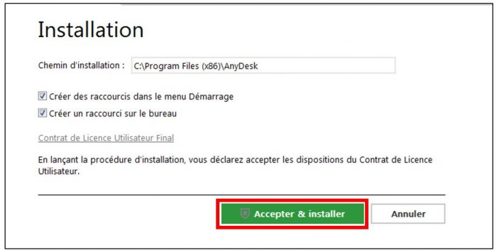 Installer localement AnyDesk