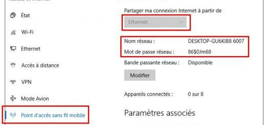 Activer le point d'accès sans fil