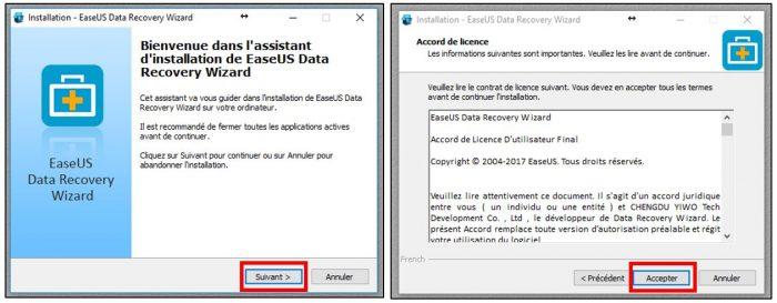 Installer EaseUS Data Recovery