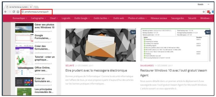 Enregistrer une page web en PDF