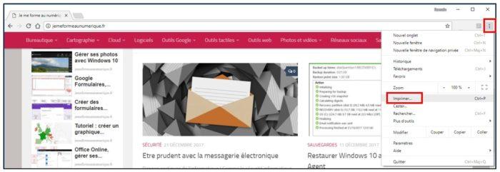Imprimer une page web
