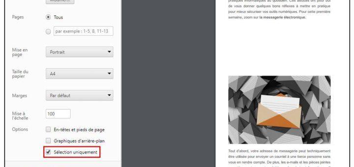 Lancer l'impression au format PDF