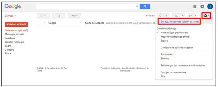 nouvelle version gmail
