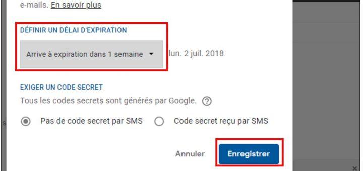 Gmail mode confidentiel définir une date limite