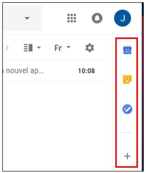 nouvelle version gmail barre rétractable et raccourcis