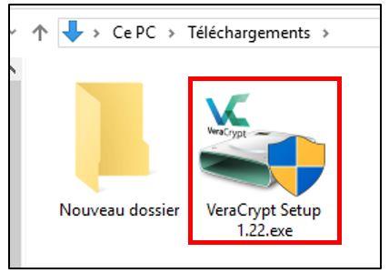 Exécuter VeraCrypt