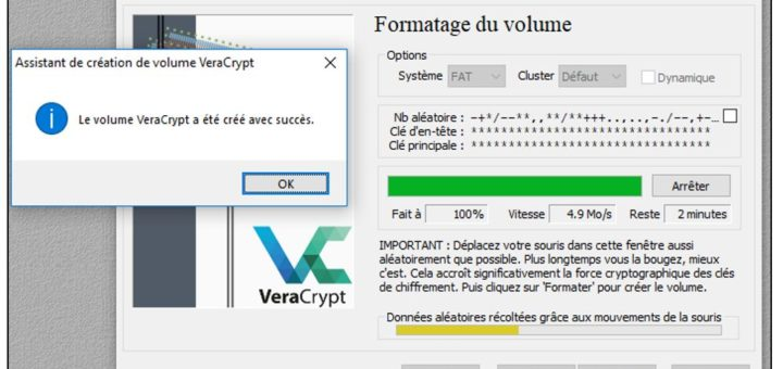 Formater le volume