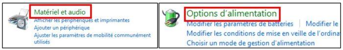 Options d'alimentation