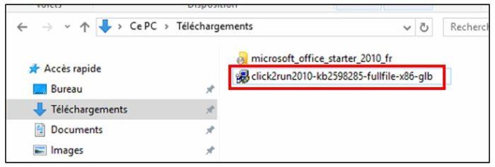 Exécuter le patch de compatibilité Windows 10
