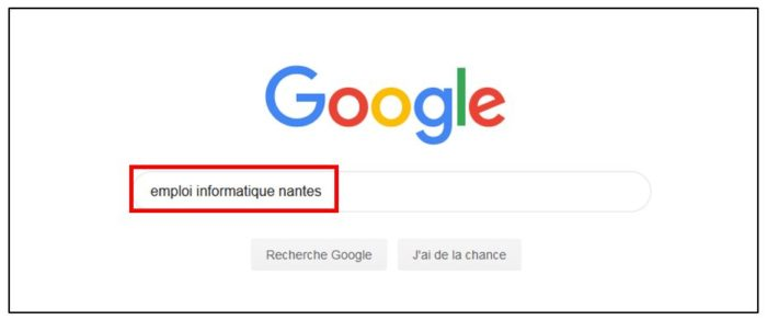 Recherche d'emploi avec Google
