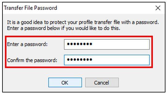Ajouter un mot de passe pour protéger le profil