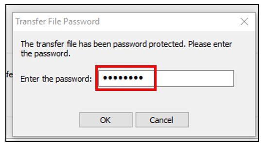 Indiquer le mot de passe